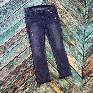 Silver Aiko Slim Boot Cut Jeans 34